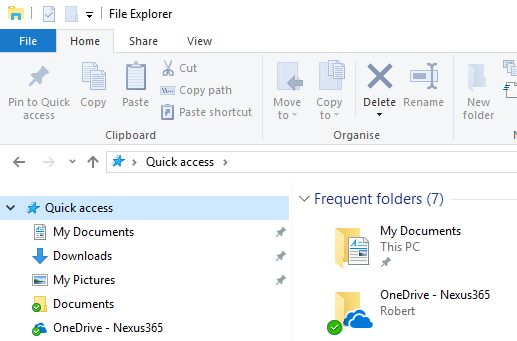 file explorer  onedrive